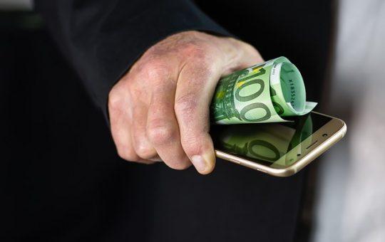 argent smartphone